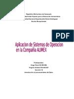 Aplicación de Sistemas de Operación en la compañía ALIMEX