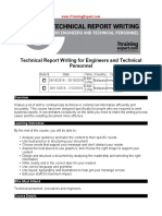 Technical Report Writing for Engineers and Technical Personnel