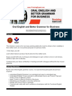 Oral English and Better Grammar for Business