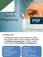 Critical Care in Pregnancy
