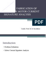 Design & Fabrication of Setup for Motor Current