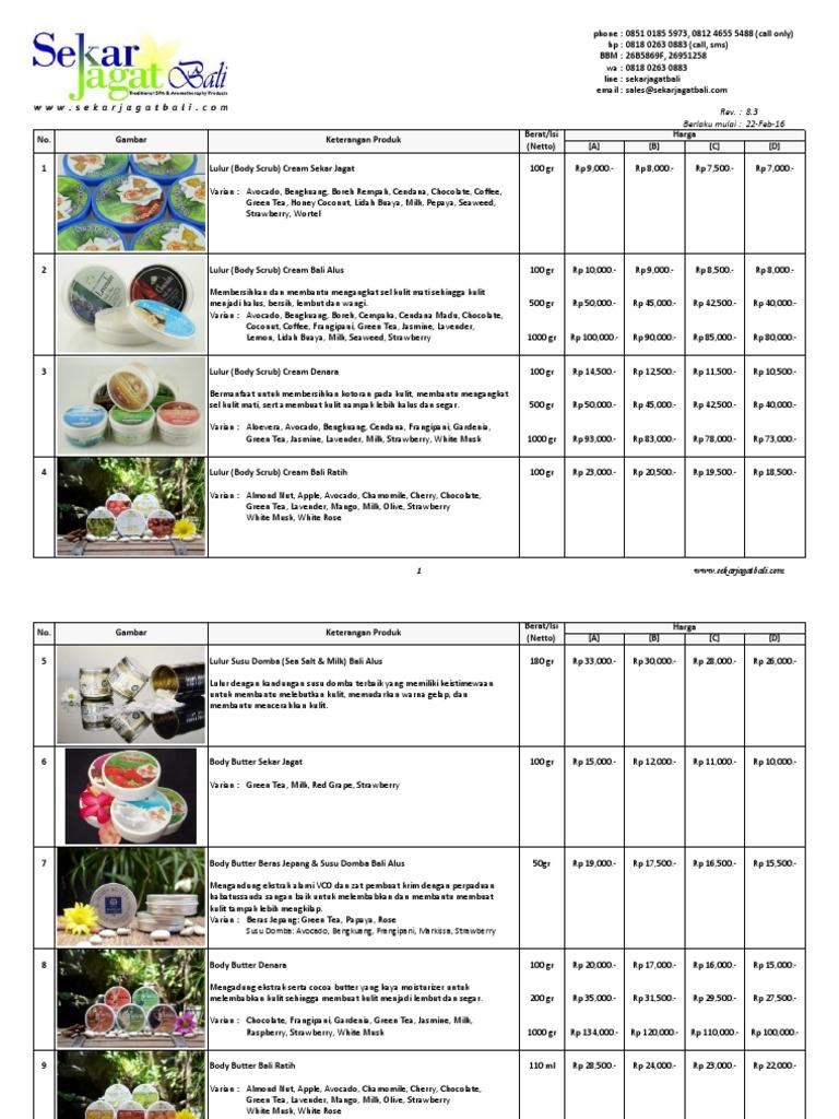 Katalog Produk Sekar Jagat Bali Foot Massage Alus 100gr
