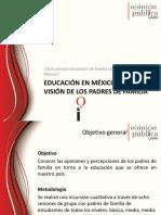 Educación en México, la visión de los padres de familia.