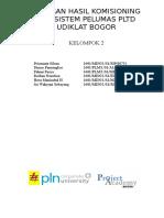 Laporan Komisioning PLTD CIbogo Kel 2