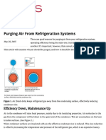Purging Air From Refrigeration Systems