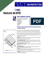Insulate an Attic