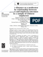 Power distance as a moderator of the relationship between justice and employee outcomes in a sample of Chinese employees