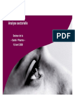 Analyse Sectorielle Filiere Sante Pharma