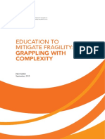 Education to mitigate fragility
