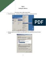 Setting IP Address Pada Windows Server 2003