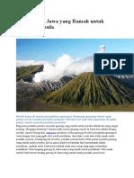 5 Gunung Di Jawa Yang Ramah Untuk Pendaki Pemula