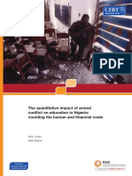 The quantitative impact of armed conflict on education in Nigeria