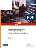 The quantitative impact of armed conflict on education in DRC