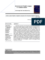 Decline in Spoken English on Anglophone Campuses in the Francophone Regions in Cameroon