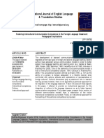 Fostering Intercultural Communicative Competence in the Foreign Language Classroom- Pedagogical Implications