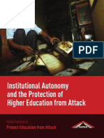 Institutional Autonomy and the Protection of Higher Education from Attack