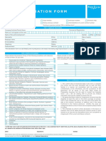 Medical Declaration Form - Less Than 50 - English