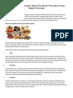 Makanan Pantangan Bagi Penderita Penyakit Ginjal Wajib Dihindari