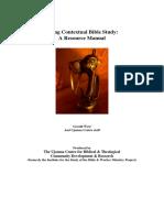 Contextual Bible Study Manual