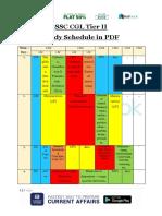 SSC CGL Tier II Study Schedule - PDF