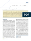 Integration of Nonlinear Crude Distillation Unit Models in Refinery