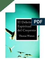 Thomas Watson El Deleite Espiritual Del Creyente