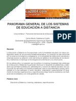 PANORAMA GENERAL DE LOS SISTEMAS DE EDUCACIÓN A DISTANCIA