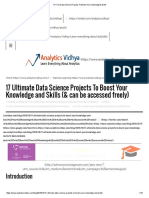17 Free Data Science Projects to Boost Your Knowledge & Skills
