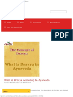 What is Dravya According to Ayurveda - Introduction of Dravya