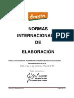 Normativa de Elaboracion DI 2012