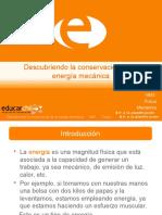 Diapositivas Digitales - Descubriendo La Conservacion de La Energia Mecanica