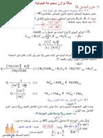 2- حالة توازن مجموعة كيميائية