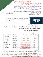 3- الموجات الميكانيكية المتوالية الدورية