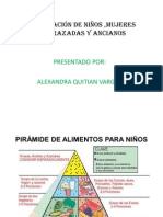 Alimentación de niños ,mujeres embarazadas y ancianos DIAPOSITIVAS