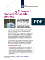 2011 Promising EU Export Markets for Sports Clothing