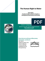 Human Right and Water