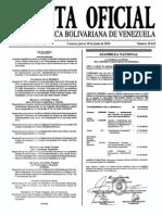 Sumario Gaceta Oficial 39.443