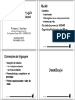 Estratégia Sobane de Gestão de Riscos Profissionais - Prof. j. Malchaire - Apresentação