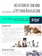 harmonization of science and law in pet food