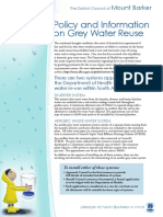 Grey Water Reuse
