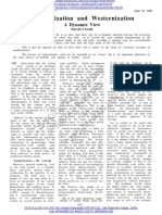 Sanskritization and Westernizationa_ a Dynamic View - HAROLD GOULD