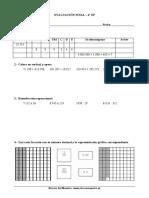 Matemáticas Evaluación Final