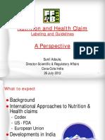 Nutrition and Health Claim - FINAL_Jul2012