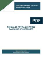 Manual de Rotina Das Ações Das Varas de Sucessões