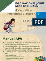 Monografía y Referencias APA UNJBG