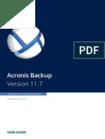 AcronisBackupWS 11.7 Userguide en-EU