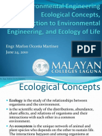 Ecological Concepts Introduction to Environmental Engineering and Ecology of Life