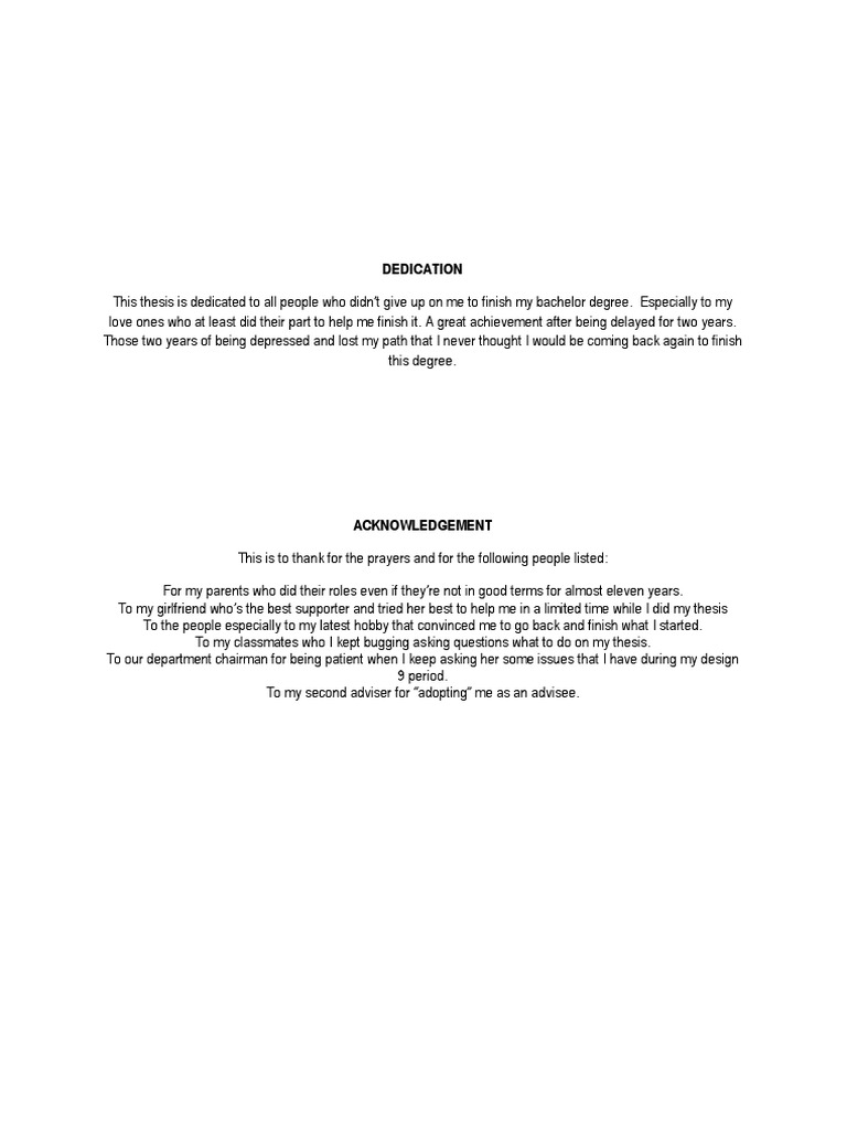 thesis dedication examples and samples