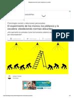 _El experimento de los monos, los plátanos y la escalera