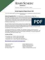 Henry Schein Organizes Region Events 2016